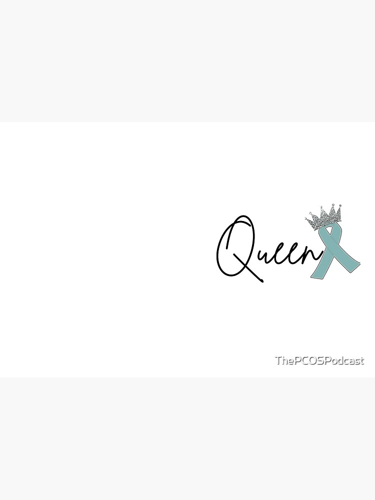 PCOS Glitter Queen Crown by ThePCOSPodcast
