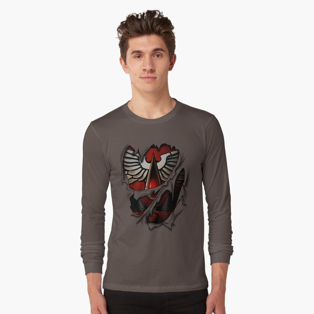 Armadura de Ángeles Sangrientos Camiseta de manga larga