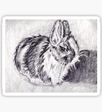 Scraggly Bunny Sticker