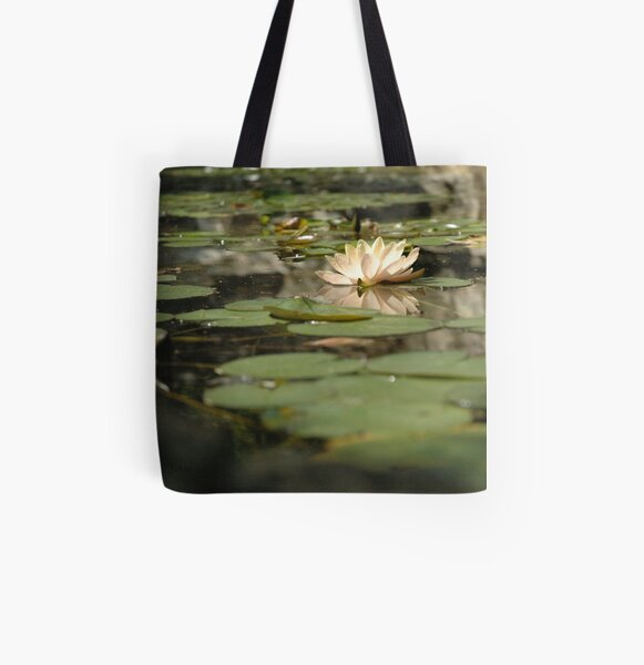 Lily Pond All Over Print Tote Bag