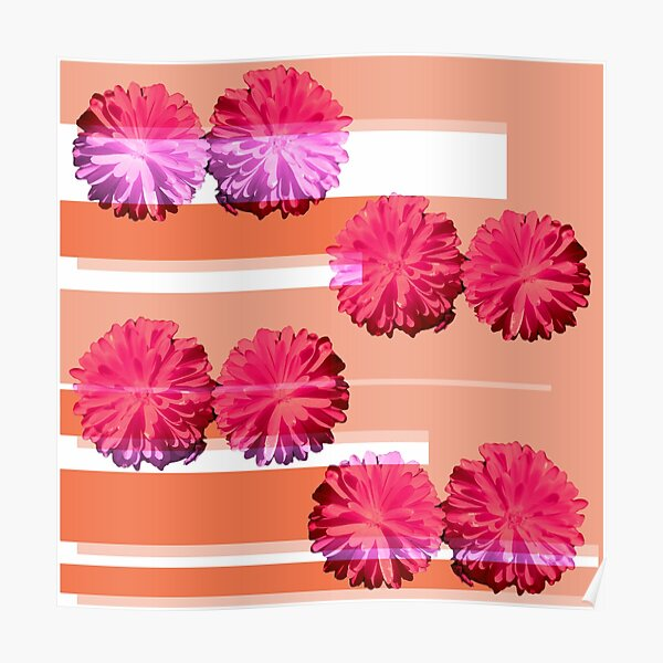 formatting flowers in blush Poster