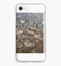 Pancake ice formations over western Lake Superior iPhone Case/Skin