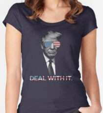 Trump- Deal with it Women's Fitted Scoop T-Shirt