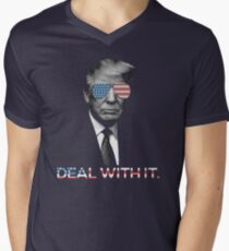 Trump- Deal with it Men's V-Neck T-Shirt