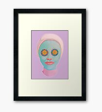 facial Framed Print