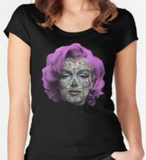 Marilyn Sugarskull Women's Fitted Scoop T-Shirt