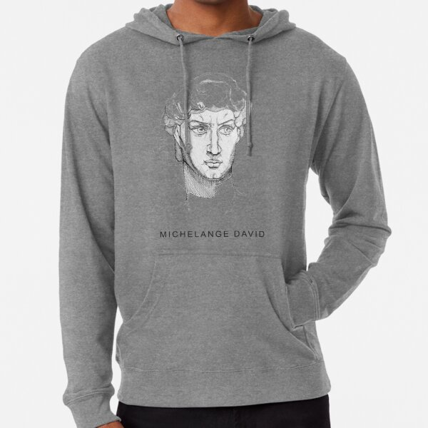 David Michelangelo Printed ,awesome Statue   Lightweight Hoodie