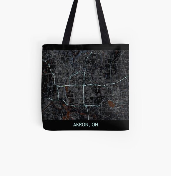 AL Topo Map Tote Bag Orange Beach AL