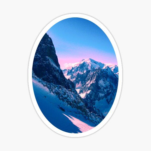 Chamonix Mountains Sticker