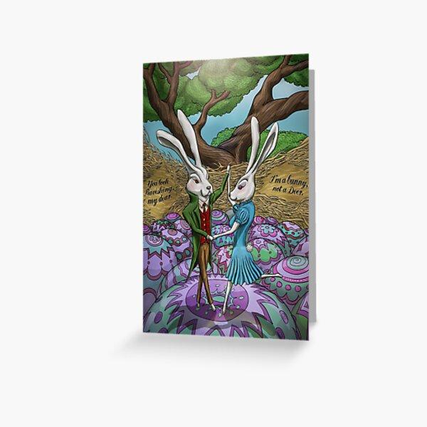 Dancing Bunnies Greeting Card