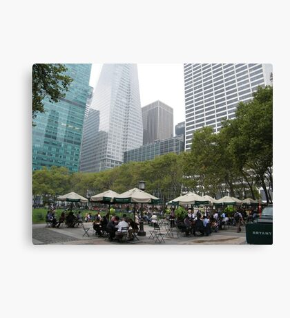 Bryant Park at Lunch Time, New York Canvas Print