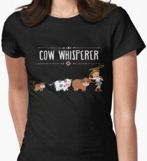 Cow whisperer Women's Fitted T-Shirt
