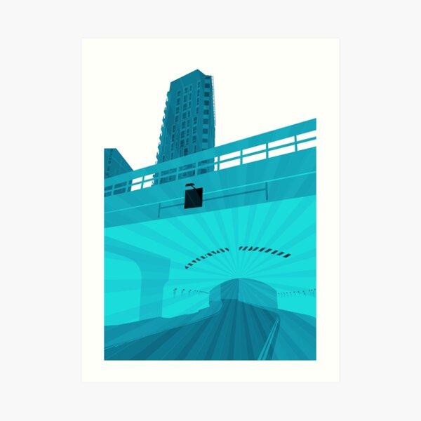 Bridge  Momentum (blue) Art Print