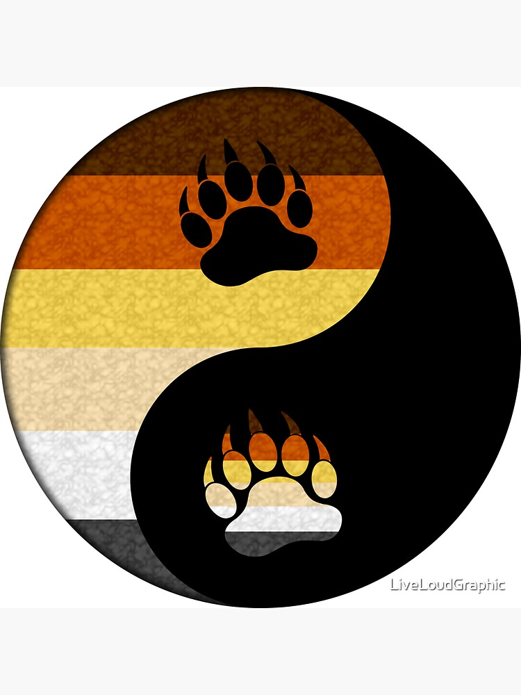 Bear Yin and Yang by LiveLoudGraphic