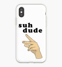 Suh Dude meme | Black Letters iPhone Case