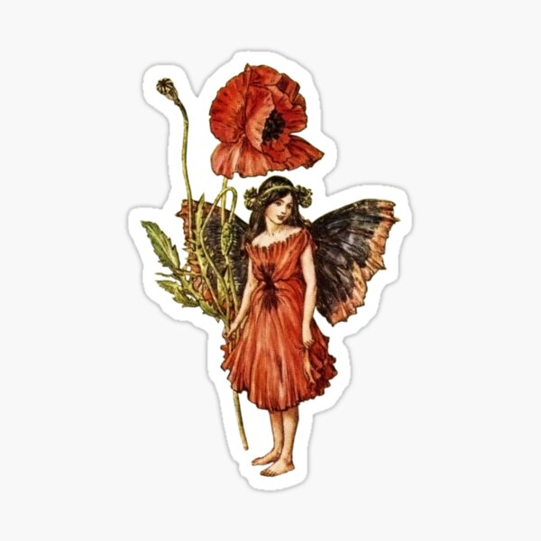 Flower fairies - Flower Fairy books by Cicely Mary Barker Glossy Sticker
