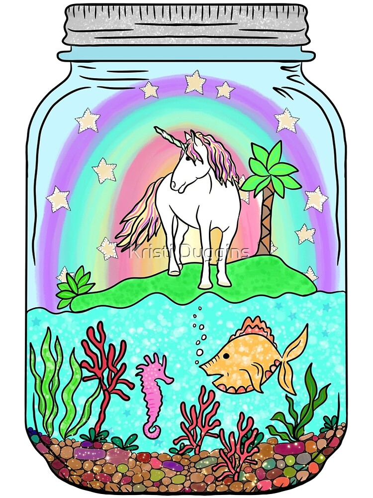 Unicorn Island, Terrarium Jar No. 7 by BohoBear