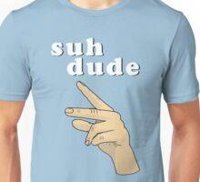 Suh Dude meme   White Letters Unisex T-Shirt