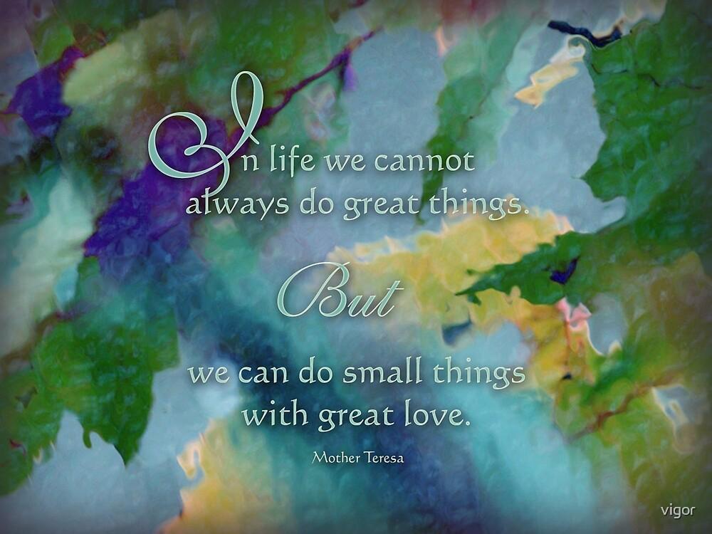 Do Great Things - Wisdom Saying by vigor
