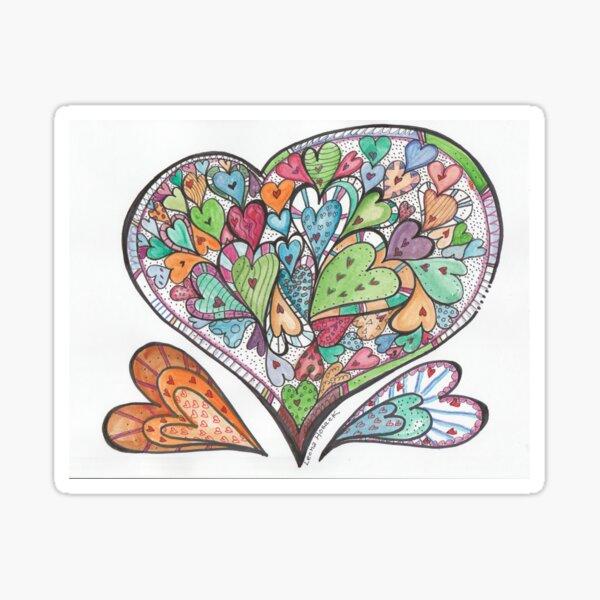 Heart Party Sticker
