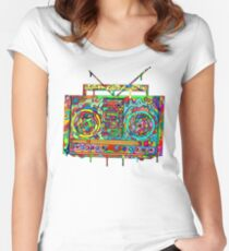Boom Box Women's Fitted Scoop T-Shirt
