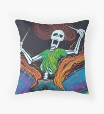 Drummer Of The Dead Throw Pillow