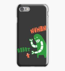 Robot v Human iPhone Case/Skin