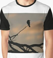 Flycatcher at Twilight Graphic T-Shirt