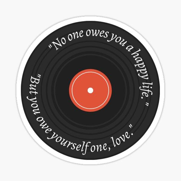 Grant Chapman ATYD quote sticker vinyl record Sticker