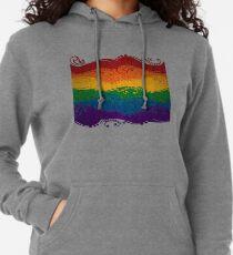 Dekorative Regenbogenfahne Leichter Hoodie