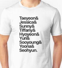 Girls' Generation (OT9-black text) T-Shirt