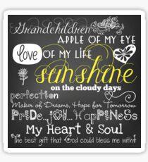 Grandchildren Love Of My Life Chalkboard Quotes Sticker
