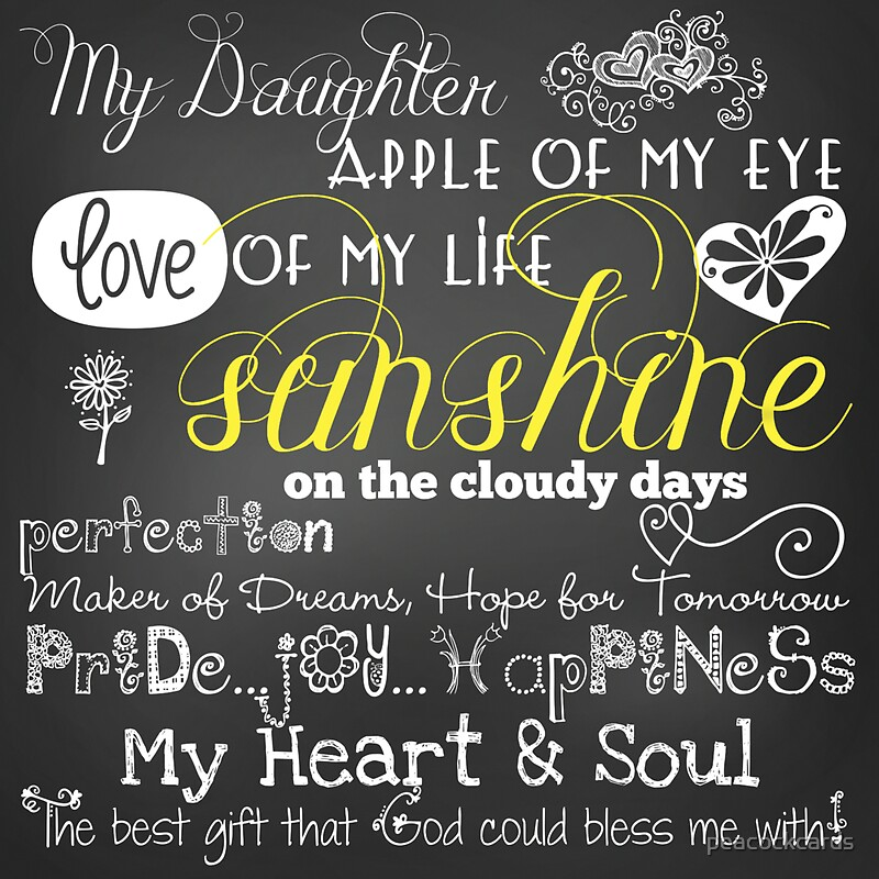 """Quotes Love Of My Life: """"My Daughter Love Of My Life Chalkboard Quotes"""" Stickers"""