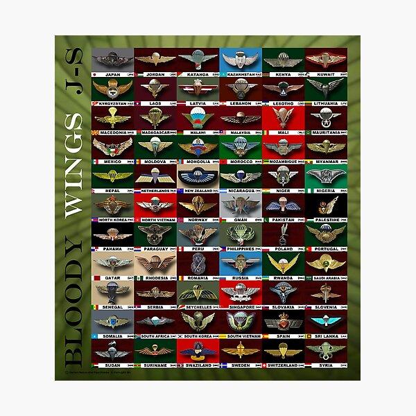 Bloody Wings; Para Badge; J-S;  Photographic Print