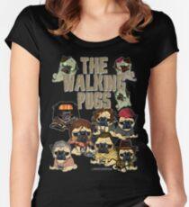 Camiseta entallada de cuello redondo The Walking Pugs
