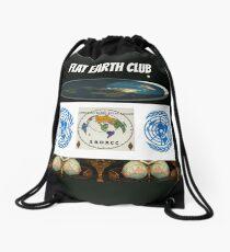 flat earth club Drawstring Bag