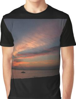 Watercolor Sunset Graphic T-Shirt