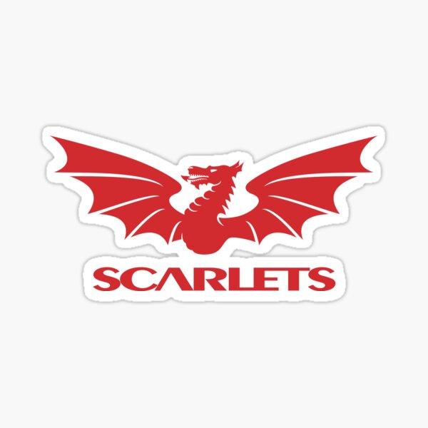 scarlets rugby Sticker