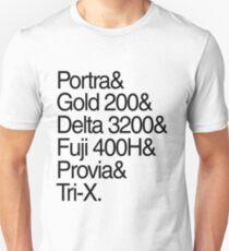 Helvetica Film Stock Unisex T-Shirt