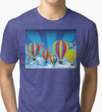 Air Balloons in the Sky 2 Tri-blend T-Shirt