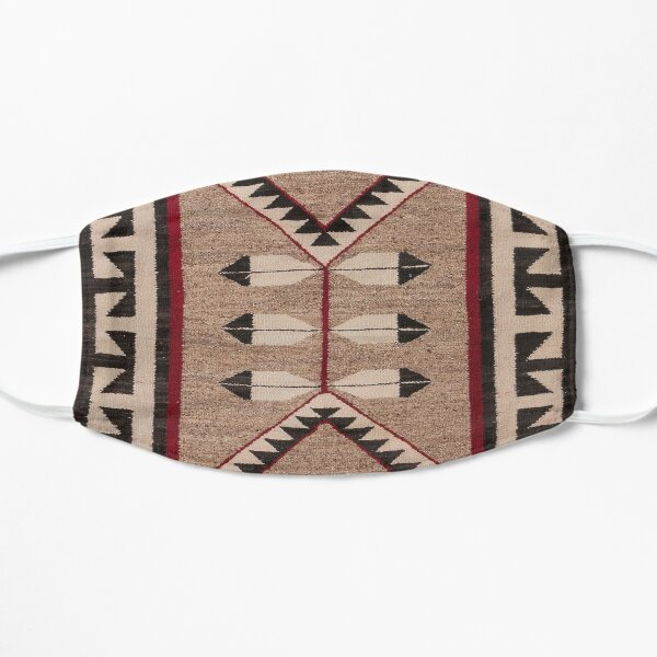 NAVAJO 1925 ART WITH FEATHERS SCAN HIGH RES - ORIGINAL WORTH OVER $20,000 Flat Mask