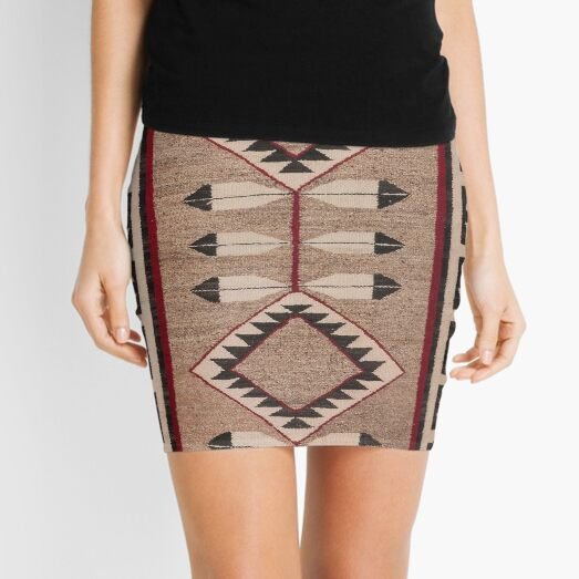 NAVAJO 1925 ART WITH FEATHERS SCAN HIGH RES - ORIGINAL WORTH OVER $20,000 Mini Skirt