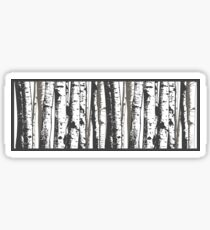 aspen trees Sticker