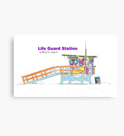 Life Guard Station Canvas Print