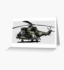 Puma Helicopter Greeting Card