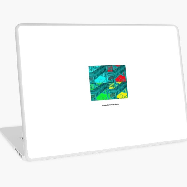 Newlands stairs poster print style  Laptop Skin