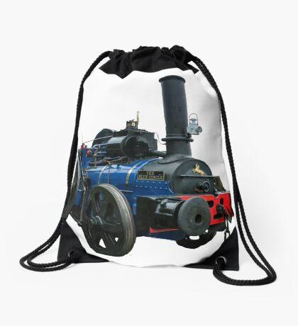 Blue Circle  Drawstring Bag