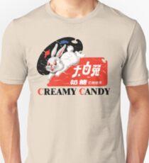 Weiße Kaninchen Cremige Candy Vintage Slim Fit T-Shirt