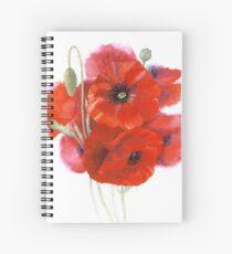 Poppy posy Spiral Notebook
