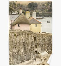 Thatched Cottage At St. Mawes Poster